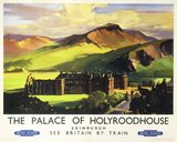 'The Palace of Holyroodhouse', British Railways poster, c 1955.