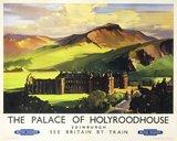 'The Palace of Holyroodhouse', British Railways poster, c 1955.