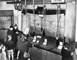 Children with interactives, Children's Gallery, Science Museum, 1951.