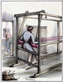 'Silk Weaving', c 1845.