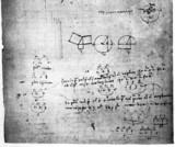 Mathematical doodles, from a Leonardo da Vinci notebook, late 15th century.