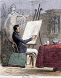 'Fine Arts - Sepia', c 1845.