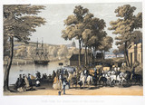 'View from the North Bank of the Serpentine', Hyde Park, London, 1851.
