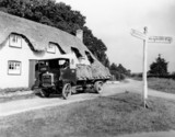 Lorry delivering goods near Newbury, Berkshire, 24 September 1929.