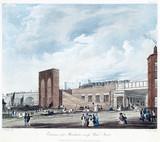 Entrance into Manchester acros Water Street, 1831.