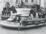 The SR-N1, the world's first hovercraft, making maiden voyage, 11 June 1959.
