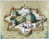 Tycho Brahe's observatory at Stjerneborg, Hven, 1584.