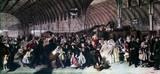 'The Railway Station', c 1862.