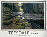 'Teesdale, it's quicker by rail', LNER poster, c 1930s.