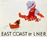 'East Coast by LNER', LNER poster, c 1935.