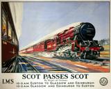 'Scot Passes Scot', LMS poster, 1937.