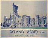 'Byland Abbey', LNER poster, 1934.