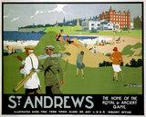 'St Andrews', LNER poster, 1920s.