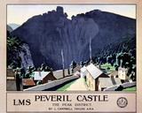 'Peveril Castle', LMS poster, 1924.