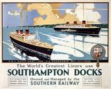 'Southampton Docks', SR poster, 1936.