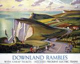 'Downland Rambles', BR poster, 1950s.