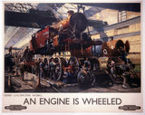 'An Engine is Wheeled', BR poster, 1950s.