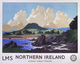 'Northern Ireland', LMS poster, 1944.