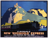'New Rheingold Expres', LNER poster, 1935.
