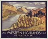 'Western Highlands', LNER/LMS poster, 1923-1947.