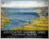 'Asociated Humber Lines', LNER/LMS poster, 1930.