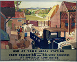 'Farm Collection and Delivery Services', LNER poster, 1930.