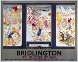 'Bridlington - It's Quicker By Rail', LNER poster, 1923-1947.