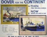 'Dover for the Continent', BR poster, 1950.