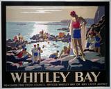 'Whitley Bay', LNER poster, c 1929.