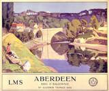 'Aberdeen', LMS poster, 1924.