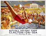 'Butlin's Holiday Camp, Clacton-on-Sea', LNER poster, 1940.