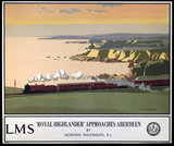 'Royal Highlander Approaches Aberdeen', LMS poster, 1923-1947.