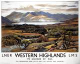 'Western Highlands', LNER/LMS poster, 1939.