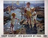 'East Coast', LNER poster, 1933.