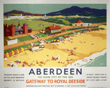 'Aberdeen, Gateway to Royal Deeside', LNER/LMS poster, 1923-1947.