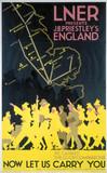 'LNER presents J B Priestley's England', LNER poster, 1923-1947.
