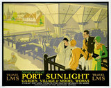 'Spend a Day at Port Sunlight', LMS poster, c 1930s.