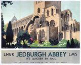 'Jedburgh Abbey', LNER/LMS poster, 1923-1947.