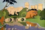 'Warwick Castle', LMS poster (detail), 1924.