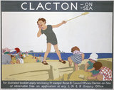 'Clacton-on-Sea', LNER poster, c 1930.
