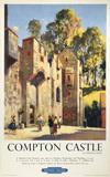 'Compton Castle', BR (WR) poster. Colour po