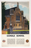 Oundle School, Northamptonshire, LMS poster c 1930s.