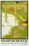 'Knaresborough', LNER poster, 1923-1947.