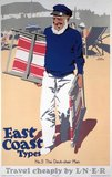 'The Deck-chair Man', LNER poster, 1931.