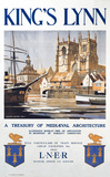 'King's Lynn - A Treasury of Medieval Architecture', LNER poster, 1923-1947.