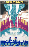 'Over to Germany from Harwich', LNER poster, 1923-1947.