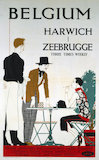 'Belgium, Harwich, Zeebrugge', LNER poster, 1923-1947.