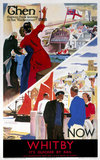 'Whitby: Then-Now', LNER poster, 1930-1947.