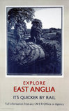 'Explore East Anglia', LNER poster, 1923-1947.