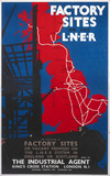 'Factory Sites on the LNER', LNER poster, 1923-1947.